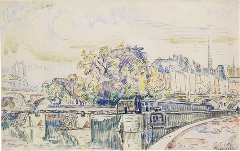 artwork by paul signac