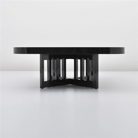 limited production cocktail table by richard meier