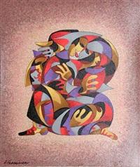 kissing lovers by anatole krasnyansky