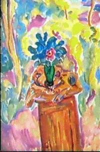 les fleurs dans le vase vert by victor teterine