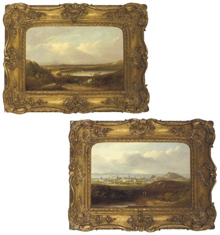 the lake of menteith a prospect of edinburgh pair by henry g duguid