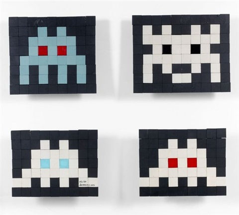 hollywoodee 3 others 4 works by invader