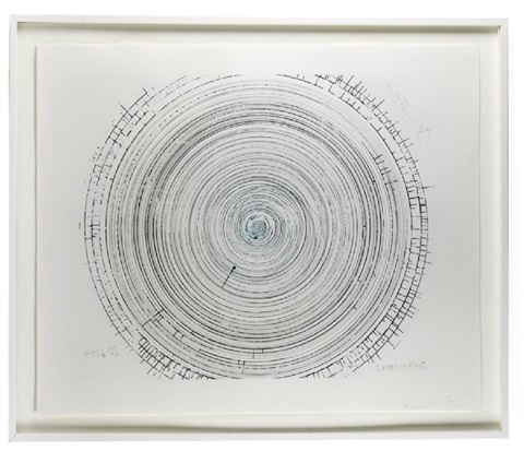 Framed Spin Art,The Twist Signed by Damien Hirst on artnet