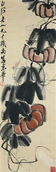 three gourds and grasshopper by qi baishi