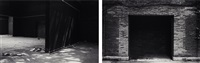 wall enclosing a space (spanish pavilion, venice biennial, venice, italy) (diptych) by santiago sierra