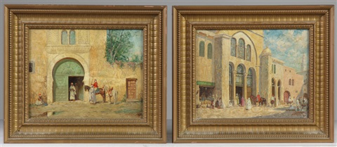 palace in the orient and the green door pair by addison thomas millar