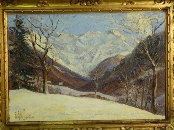 le glacier du gleyzin vu des bois du collet by etienne albrieux