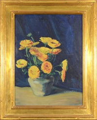flowers in a green vase by cornelia cowles vetter