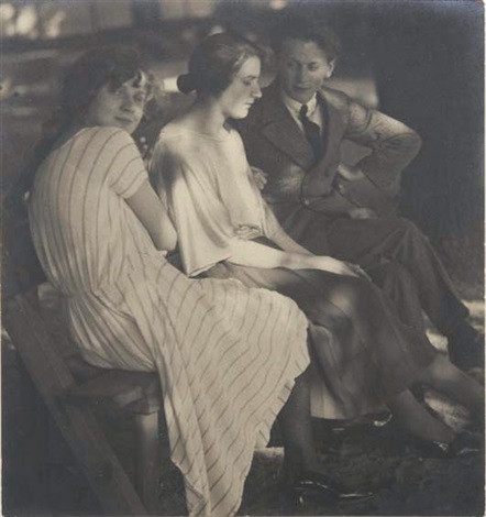 untitled three young people by jaromir funke