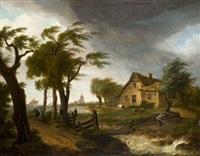 paysage à la ferme by frans swagers