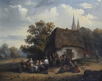 outside the inn by félix van den eycken