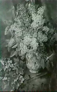 flieder in vase by augusta wilhelmine reichelt