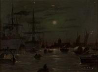 Bord de la Tamise au clair de lune (2 works)