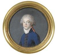 portrait d'homme, probablement de victor-léopold berthier, frère du maréchal by joseph boze