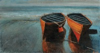 two boats, bray head by francis coughlan