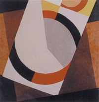 abstract in brown and beige by peter haigh