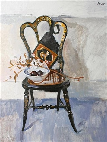 chair with still life by norman edgar