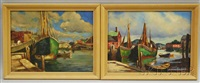 rockport harbor views (2 works) by arthur e. ward