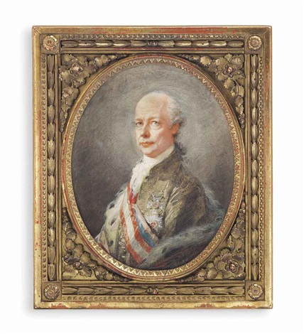 leopold ii 1747 1792 holy roman emperor in olive green coat ermine trimmed cloak wearing the ribbon of the order of the golden fleece by friedrich heinrich füger