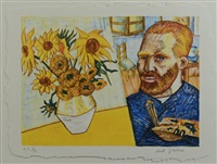 van gogh with sunflowers by red grooms