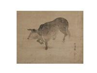 ink landscape by ogata kenzan