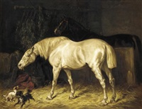 playtime in the stable by gustav colsoulle