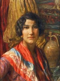 ritratto di donna (la luciana) by vincenzo migliaro