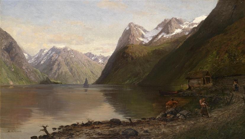 norwegische fjordlandschaft by anders monsen askevold