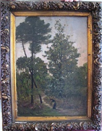 le ramassage du bois dans la forêt landaise by julien calve
