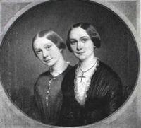 portraet af to piger by just jean christian holm