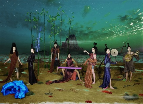 seven worthies of bamboo grove by hong lei