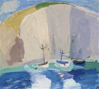 lulworth cove, dorset by julian bailey