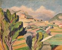 paysage aixois by charles alexandre picart le doux