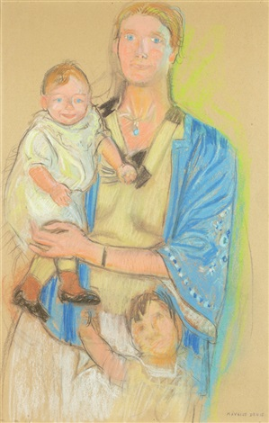 madame davezac de casteria et ses enfants by maurice denis