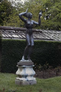 a female figure holding a dolphin by annie laurie crawford aitken
