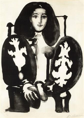 femme au fauteuil no1 by pablo picasso