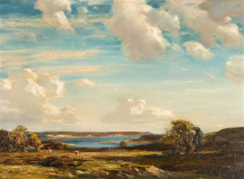 evening sunshine isle of purbeck by arthur a friedenson