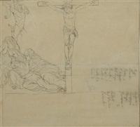 la crocifissione; figura; la morte (3 works) by gaetano forte