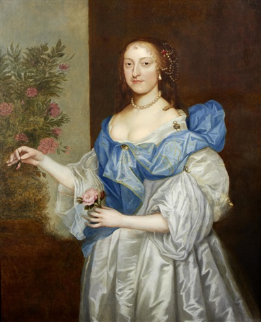portrait of a lady by sir anthony van dyck