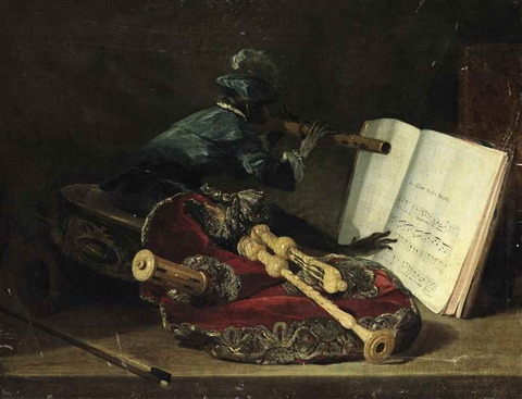the monkey musician by philippe rousseau