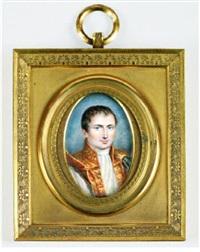 portrait de joseph bonaparte en costume de cour et cape or vers la droite by louis françois aubry