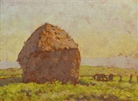 haystacks, france by robert richmond campbell