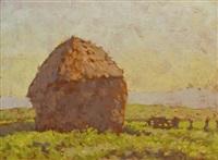 haystacks, france by robert richmond campbell