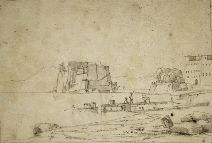 vue du château de loeuf à naples by théodore claude félix caruelle d aligny