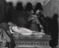 gyges in the bedchamber of king candaules by charles victoire frederic moench