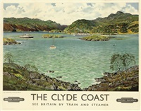the clyde coast (poster) by alasdair macfarlane