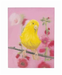 Yellow Canary (On pink), 2002