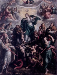 the virgin and child in glory by juan bautista de uceda