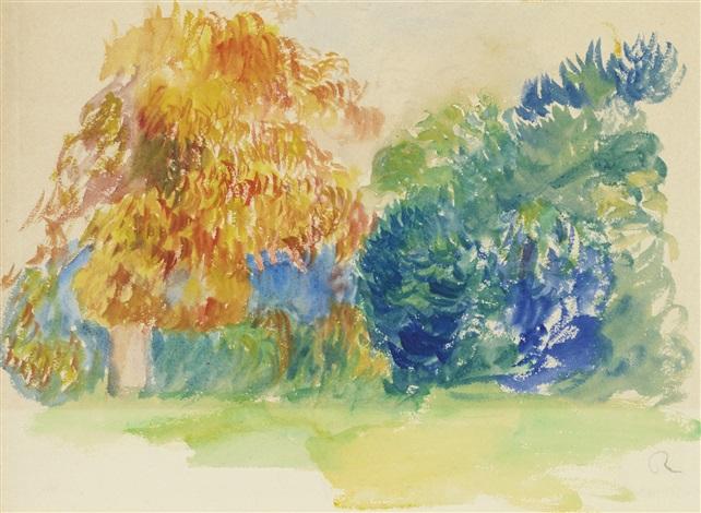 les arbres by pierre auguste renoir