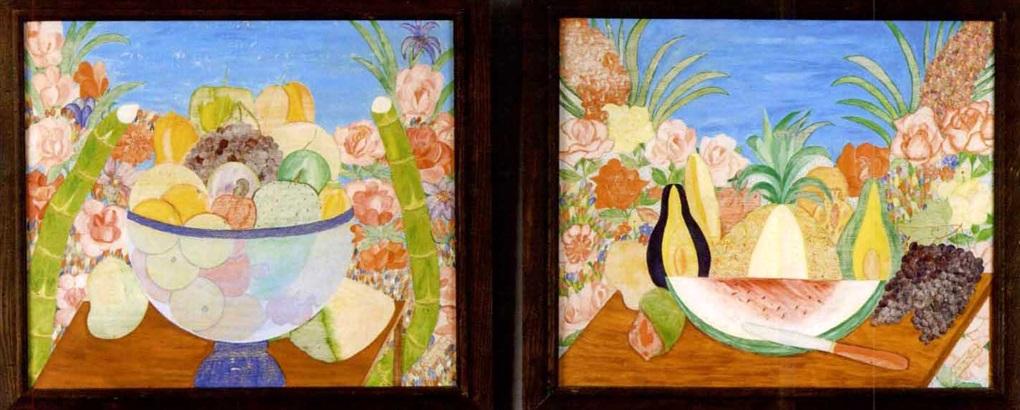 still lifes of fruit (pair) by sénèque obin